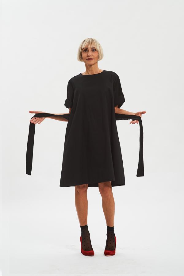 vestito nero donna casual fisto firenze