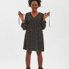 abito nero donna con pattern gattini fisto firenze