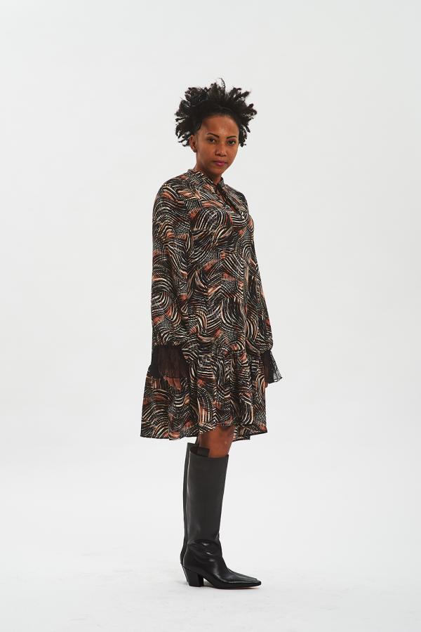 vestito donna pattern fantasia fisto firenze